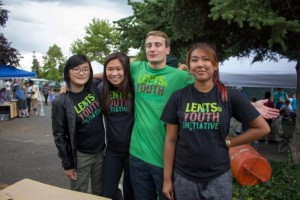 LYI interns at the Lents Street Fair