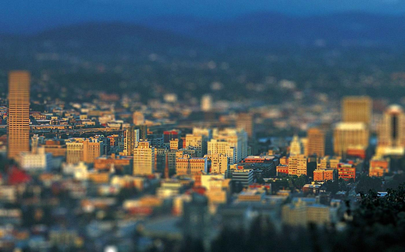 mt-hood-portland-tilt-shift